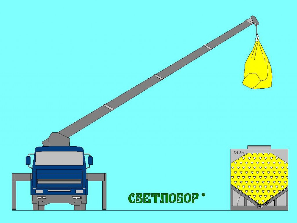 Загрузка автоматического модульного склада