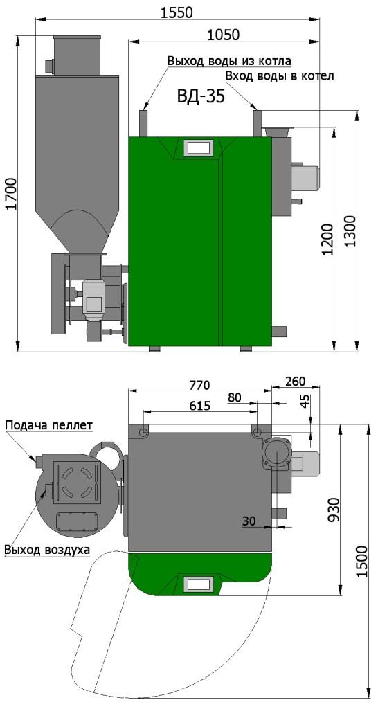 Пеллетный котел Светлобор ВД 35