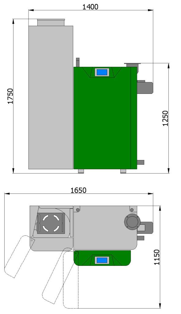 Пеллетный котел Светлобор ВД 20, ВД 25 с системой пневмозагрузки пеллет